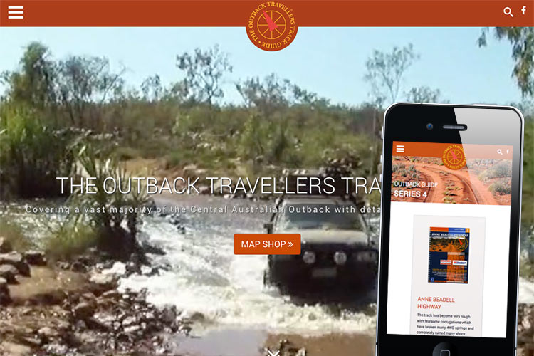 Image of Outback Travellers Track Guide website