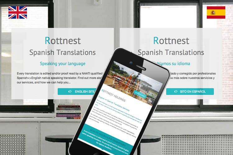 image of Rottnest Spanish Translation website